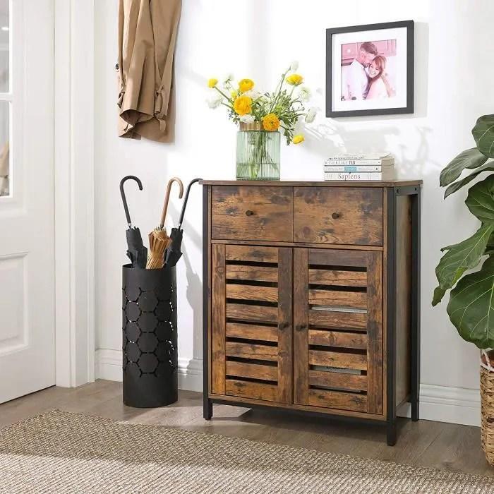 vasagle meuble de rangement style industriel armoi