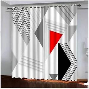 rideaux occultants rouge et gris