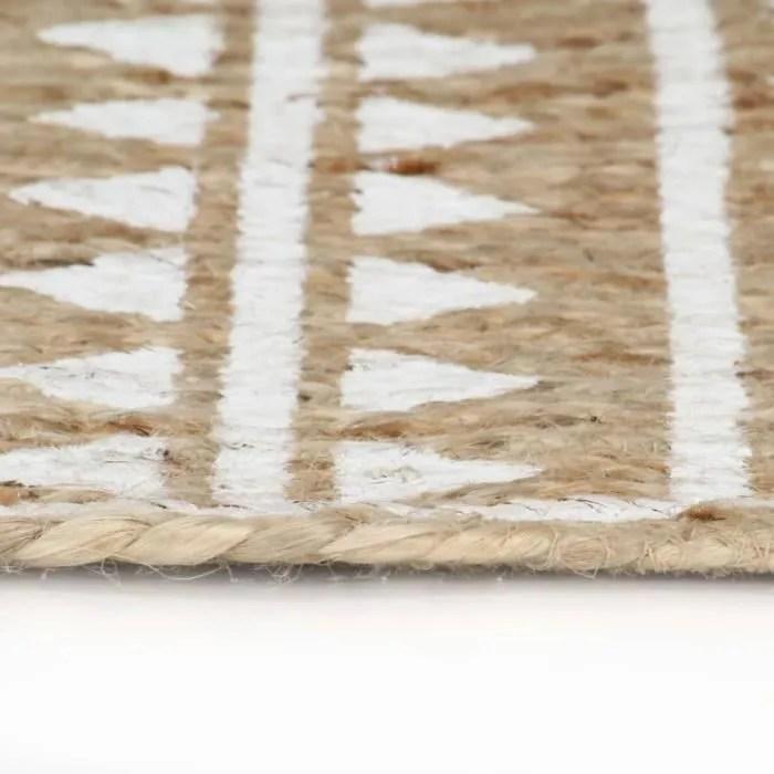 yorten tapis de decoration tapis rond salon jute t