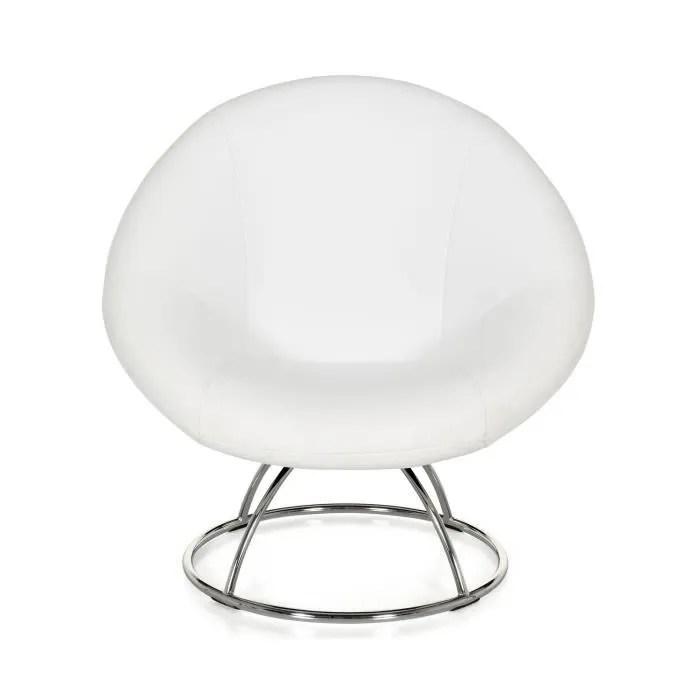 Elipse Fauteuil Blanc Forme Design Cdiscount Maison