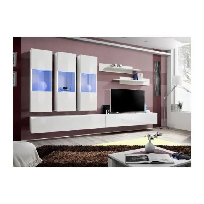 meuble tv fly e2 design coloris blanc brillant m