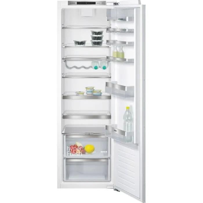 siemens ki81rad30 refrigerateur encastrable 319 l froid brasse a l 56 x h 177 5 cm