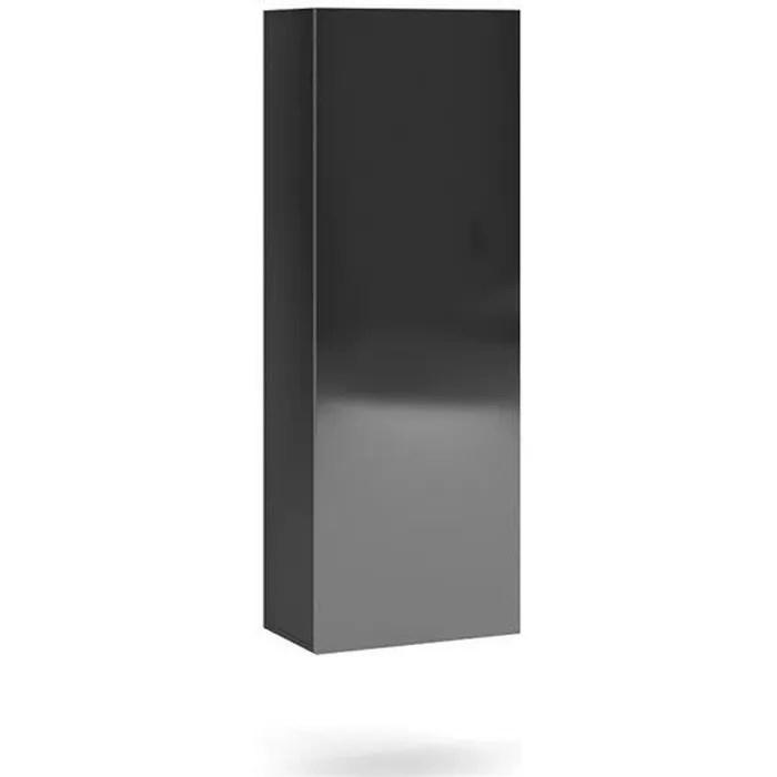 vivio etagere colonne a suspendre style contemporain salon sejour 140x40x30cm etagere murale avec porte aspect bois noir