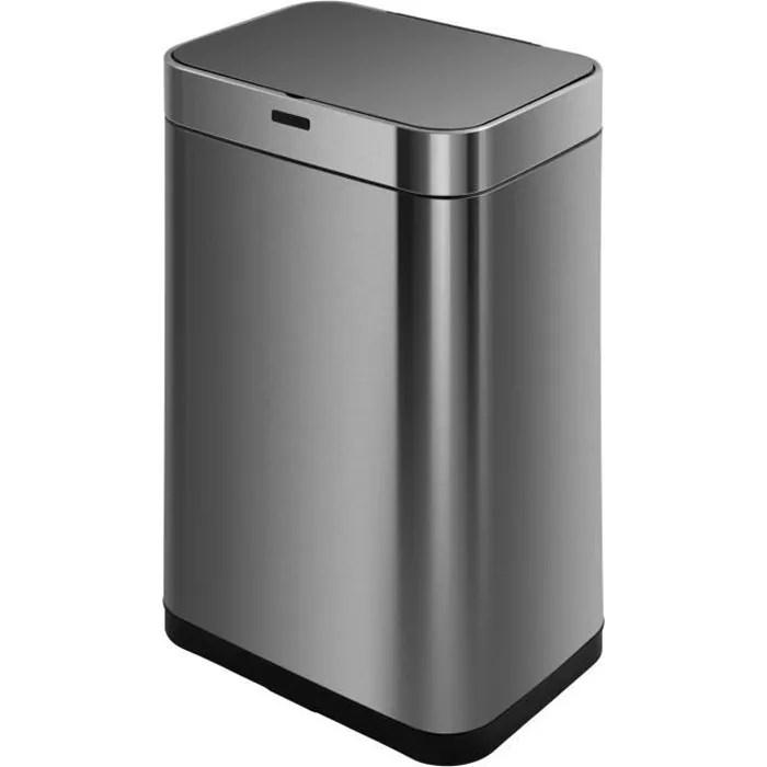 kitchen move poubelle de cuisine automatique upper 60 l en acier inoxydable