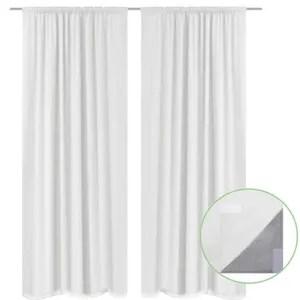 double rideaux noir et blanc