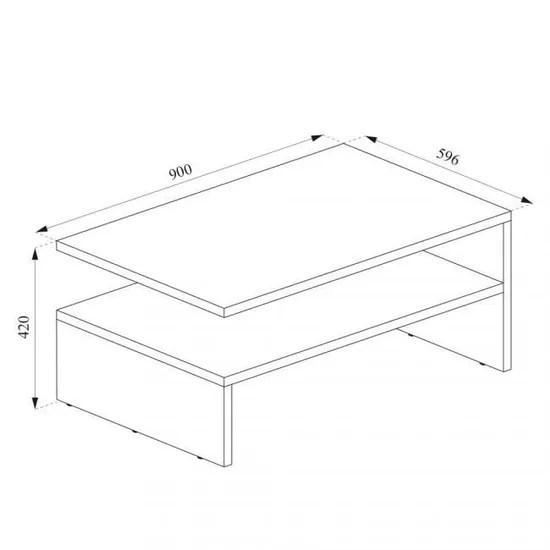 table basse anthracite blanc 42 x 90 x 60 cm