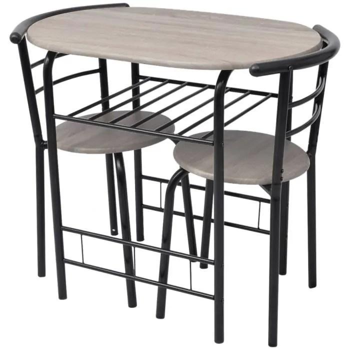 ensemble table a manger 2 personnes 2 chaises avec table pour salle a manger mdf