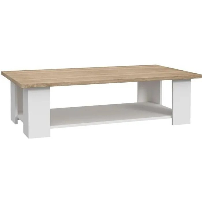 pilvi table basse rectangulaire blanc
