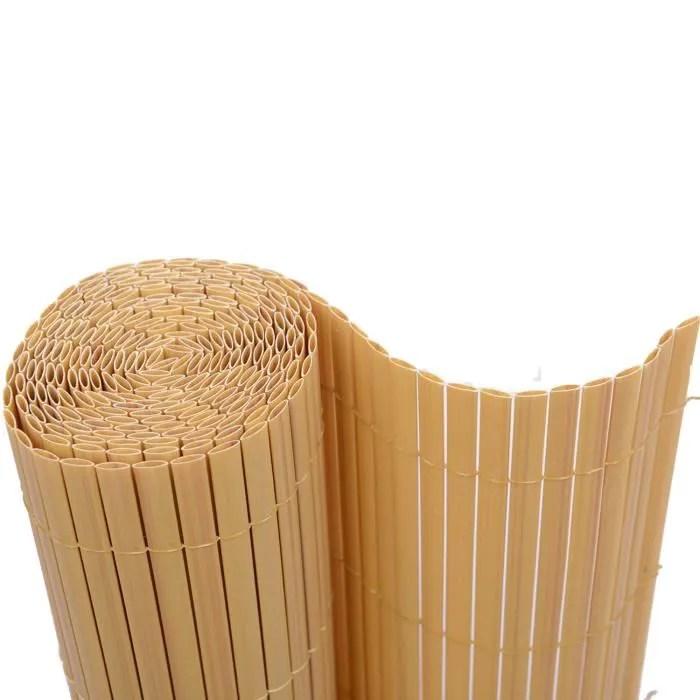 canisse pvc imitation bambou haie