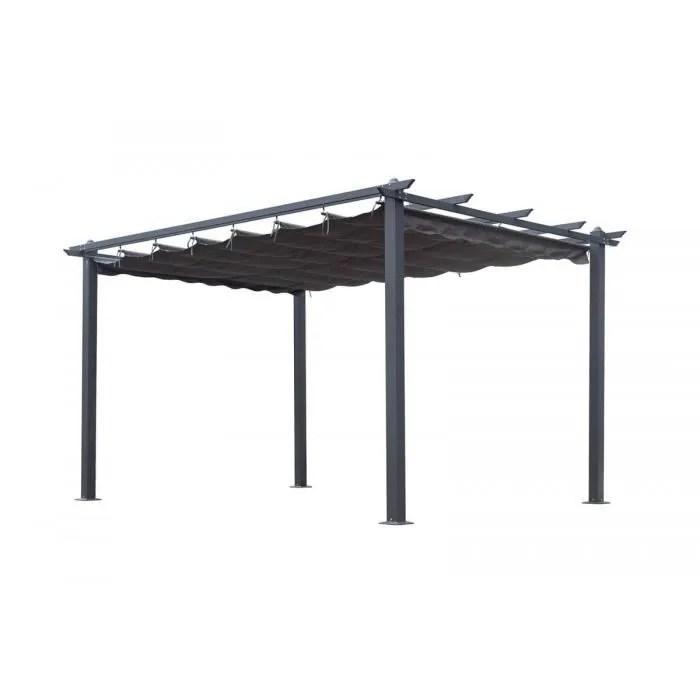 bobochic pergola aluminium toile coulissante 3x4 m