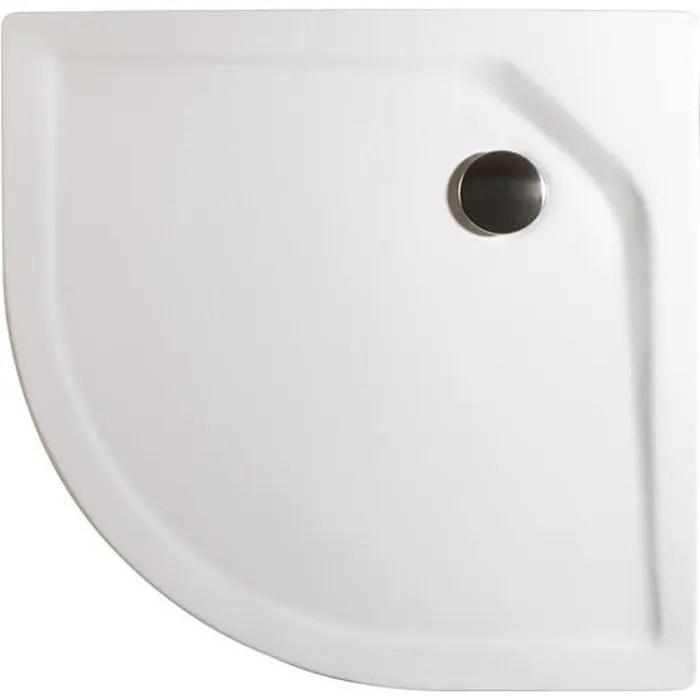 receveur de douche quart de cercle 80x80 cm bac a