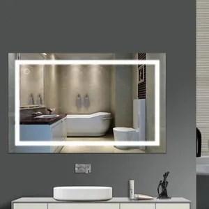 Miroir De Salle De Bain 100 Cmx60 Cm Led Lumineux Blanc Laque Brillant Achat Vente Miroir Salle De Bain Soldes Sur Cdiscount Des Le 20 Janvier Cdiscount