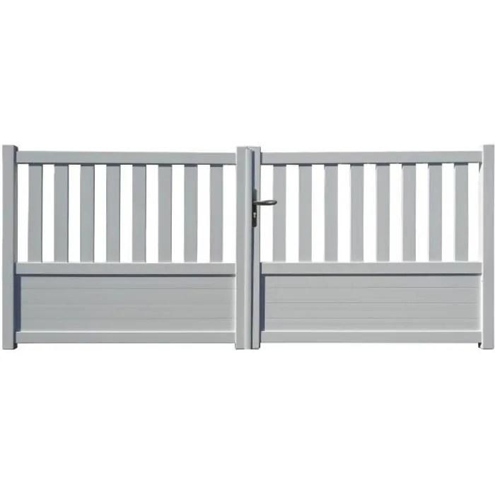 portail aluminium geneve blanc 3m