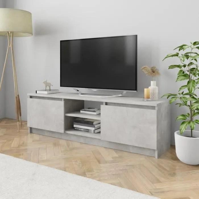 banc tv meuble de salon moderne gris