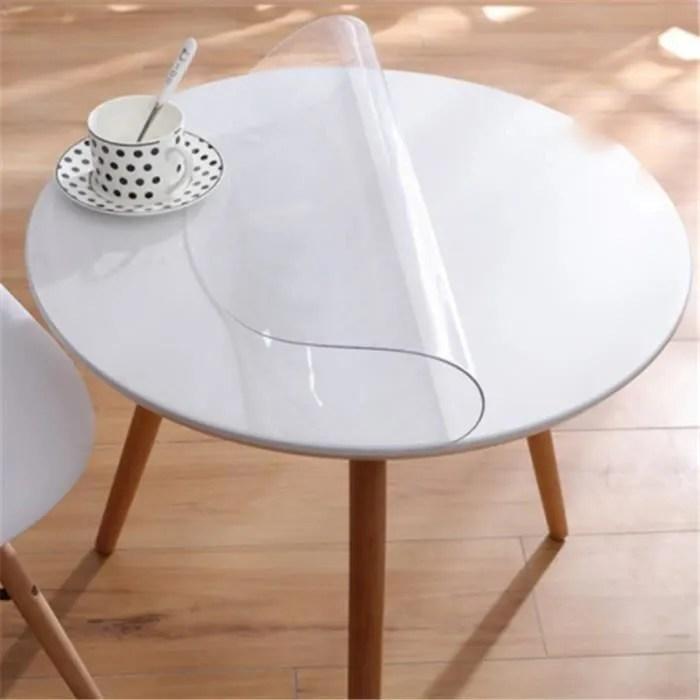 tempsa 60cm transparent nappe ronde douce de table en tpu et transparente impermeable protecteurs de bureau