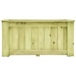 bois rectangulaire 120x40x30 cm bac