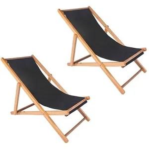 chaise longue pliante bois