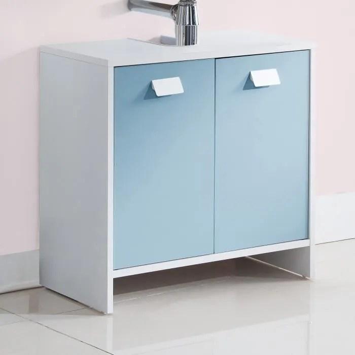 meuble sous lavabo cache colonne