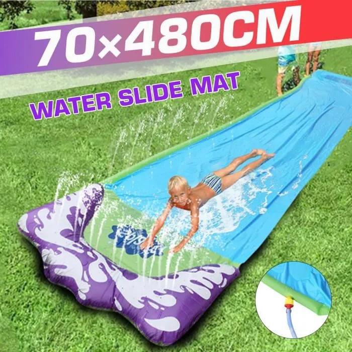 super tapis de glisse a eau gonflable jet d eau to