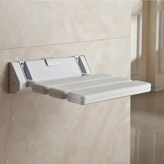 chaise de douche mural pliable salle de bain