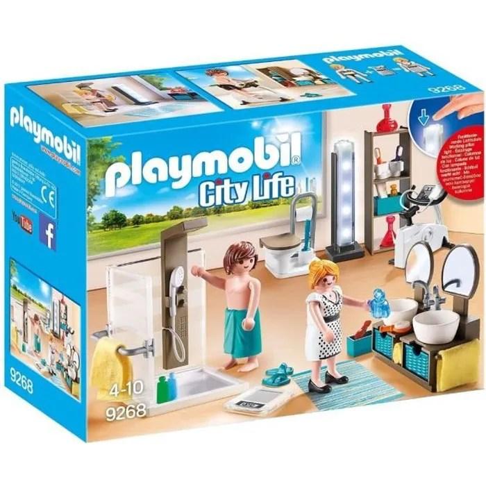 playmobil 9268 city life la maison moderne salle de bain avec douche