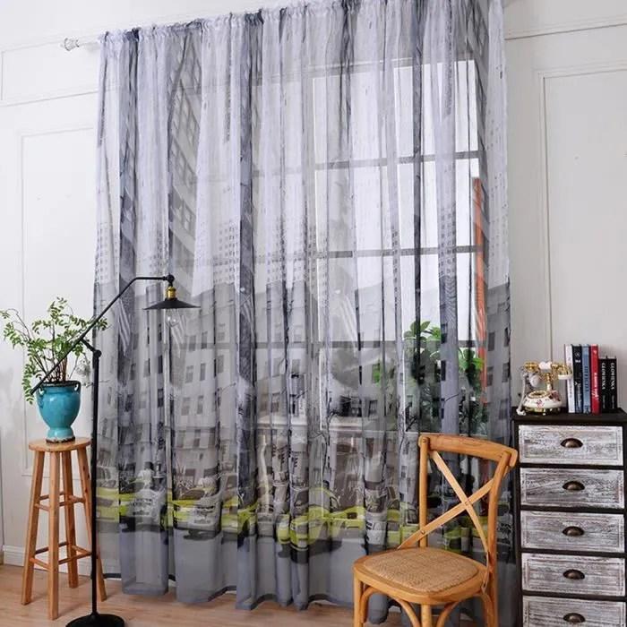 gris clair tulle fenetre rideau porte cantonnieres