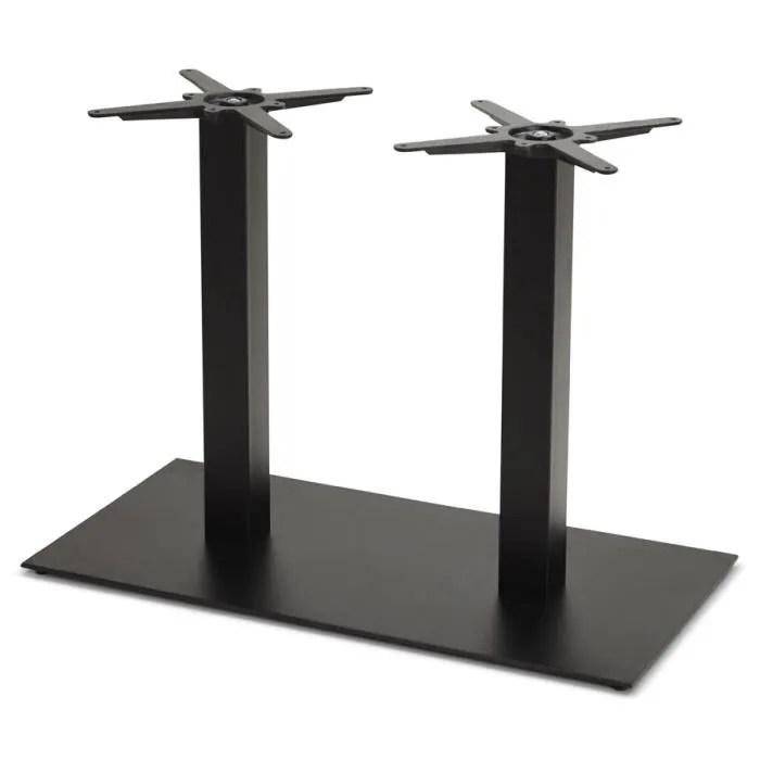 pied de table nero double 75 en metal peint noir