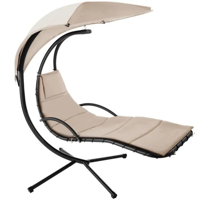 tectake fauteuil hamac suspendu maja avec pare sol
