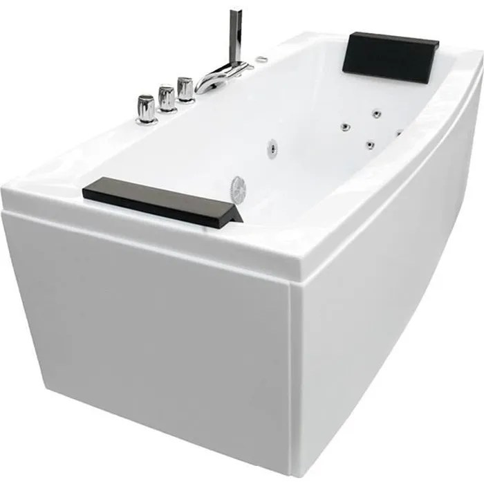 baignoire balneo 170x80x68cm blanc