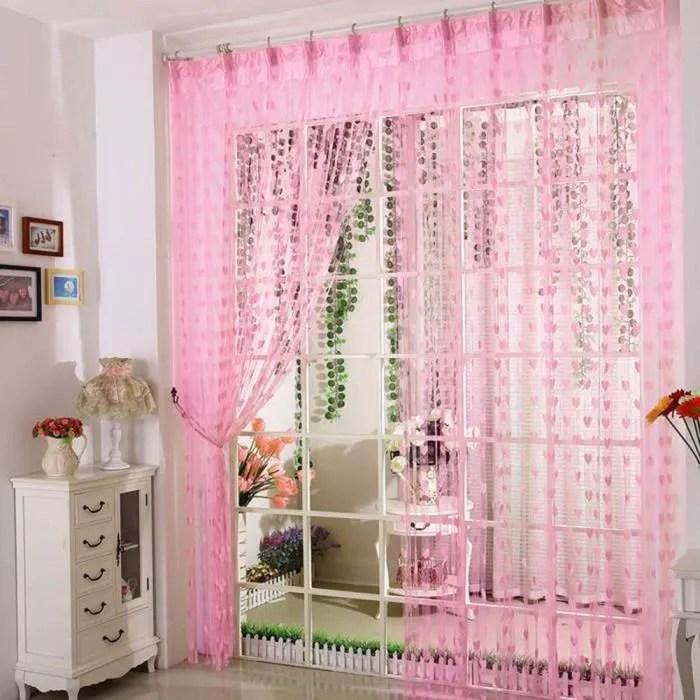 rideaux voilage 100x200 cm a oeillet rideau voila