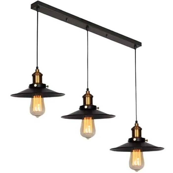 idegu retro suspension luminaire industriel barre