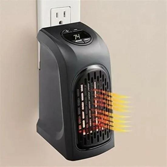 chauffage d appoint electrique sur prise murale 400 w ecran lcd avec thermostat