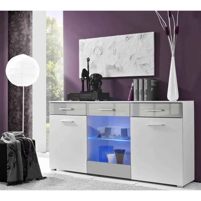 buffet design blanc et gris meuble de