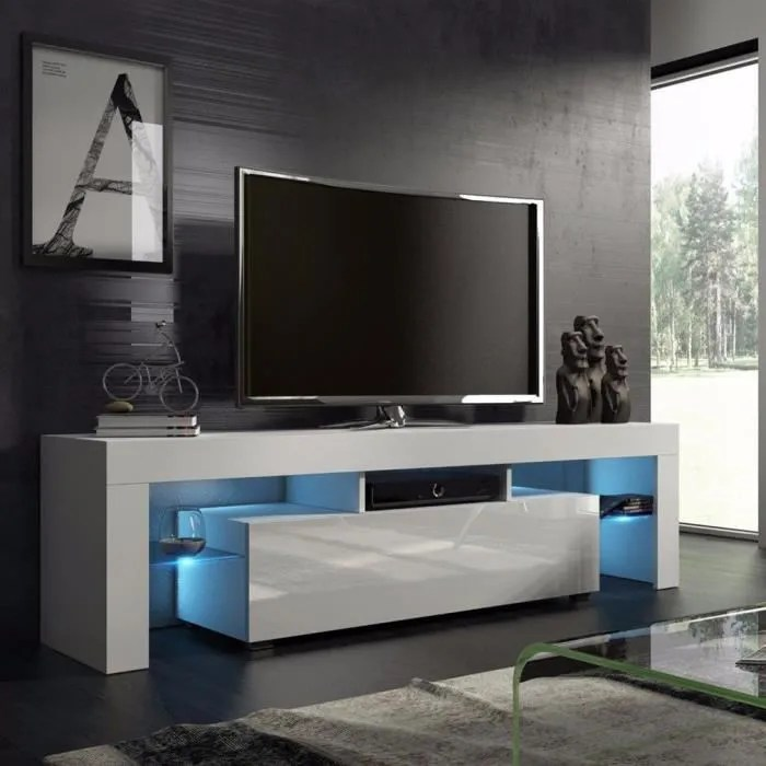 meuble tv blanc de le salon de la maison simple nordique moderne achat vente meuble tv meuble tv blanc de le salon soldes sur cdiscount des le 20 janvier cdiscount