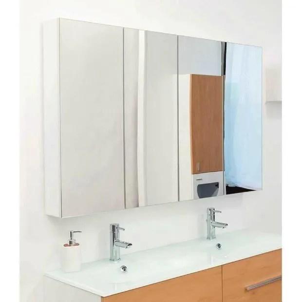 Aqua Miroir Armoire A Rangement Blanc 4 Portes 120x80 Cm Modulo A Achat Vente Miroir Salle De Bain Soldes Sur Cdiscount Des Le 20 Janvier Cdiscount