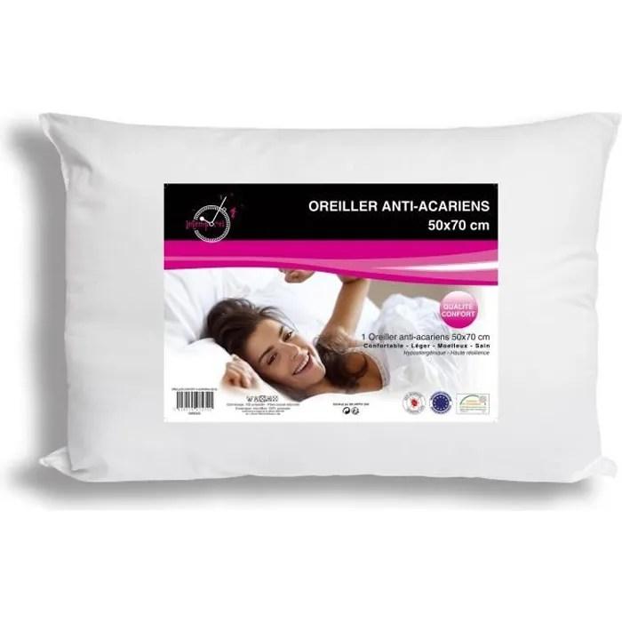soleil d ocre oreiller confort anti acariens 50x70