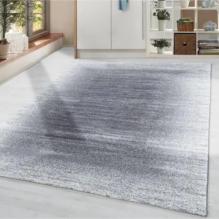 tapis salon a poils courts tapis design moderne bo