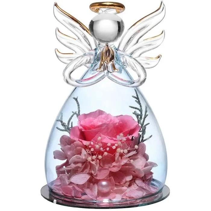 naturelle rose eternelle sous cloch