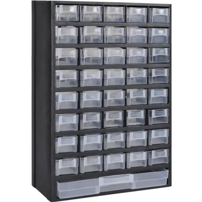 41 tiroirs armoire module de rangement plastique