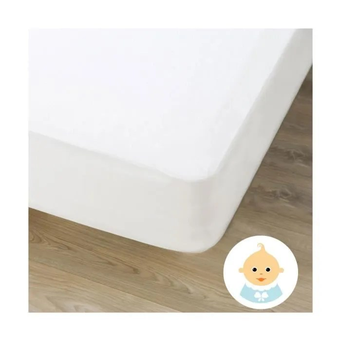 alese protege matelas impermeable bebe 60x120 c