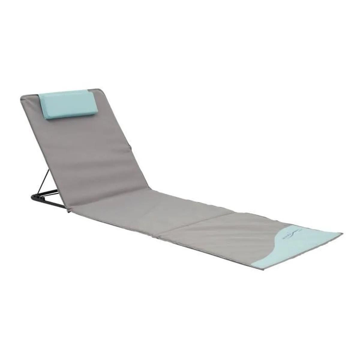 tapis de plage pliant xxl avec dossier