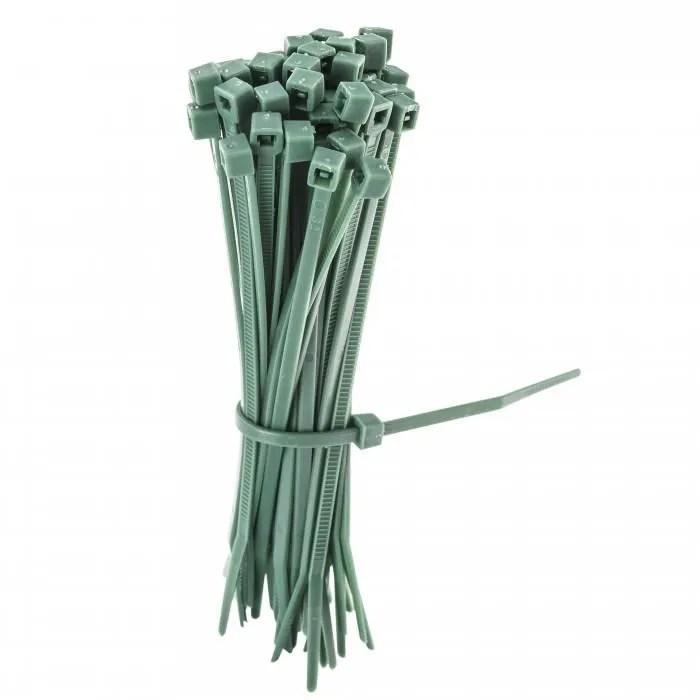 lot de 50 liens vert en plastique pour la fixation de vos clotures et grillage de differente maille et couleur fixatio