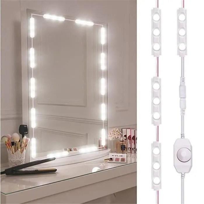 Lumiere Led Miroir De Maquillage Lumineux Pour Dresser Maquillage Coiffeuse Illuminated Blanc Achat Vente Coiffeuse Lumiere Led Miroir De Soldes Sur Cdiscount Des Le 20 Janvier Cdiscount