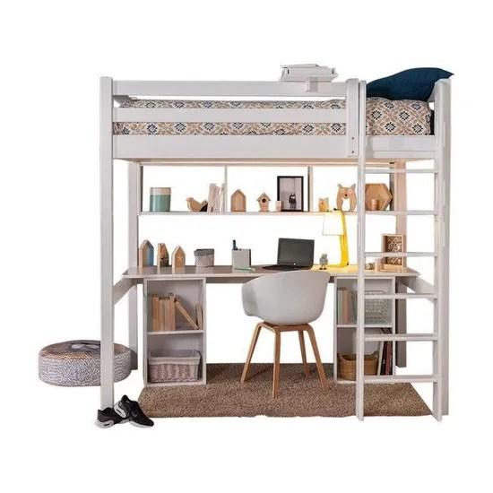 bureau pour lit mezzanine orphee blanc