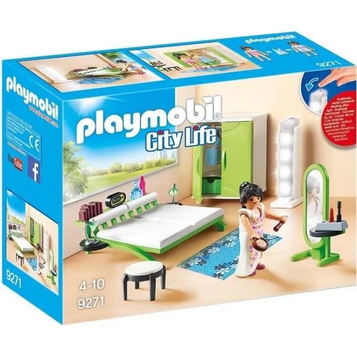 playmobil 9271 la maison moderne chambre avec