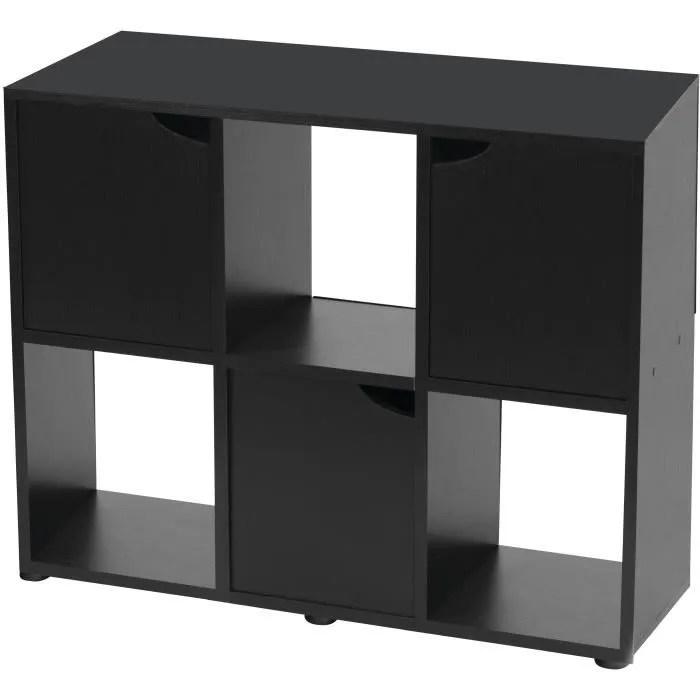 zolux meuble pour aquarium terrarium karapas l 100 x p 40 x h 72 cm noir