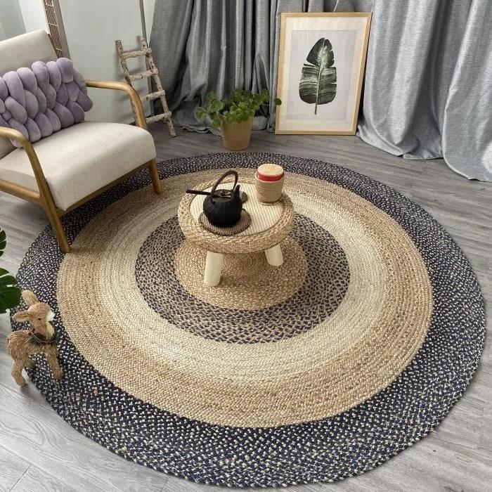 tapis jute naturel tapis rond 100