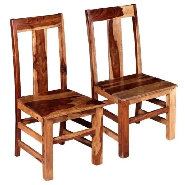 2 pcs chaise de salle a manger bois massif de sesham lot de 2 chaises chaise scandinave contemporain ensemble de chaises