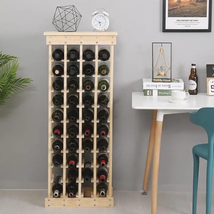 vin casier a 40 bouteilles en bois
