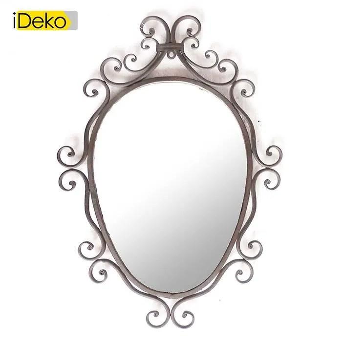 miroir fer forge